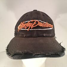 Harley Davidson Motorcycles Destroyed Damaged Snapback Hat Cap by Annco