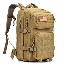 Military Tactical Backpack - Large Army Rucksacks Pack Waterproof Molle FDE Tan