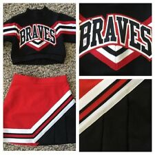 "Little Girls Real Cheerleading Uniform Braves Xs 22""20"""
