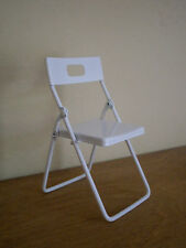 Dollshouse miniature ~ WHITE ~ Folding Chair
