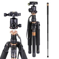 Professional Aluminium Tripod Monopod w/ Ball Head For DSLR Camera Travel