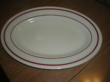 "30 Vintage Pyrex Single Serving Platters 11 1/2"" white w/ red"