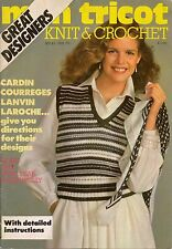 Mon Tricot MD 61 Knitting Crochet Patterns Designers Filet Pullover 1979