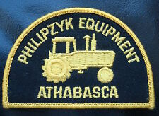 PHILIPZYK EQUIPMENT EMBROIDERED SEW ON PATCH ATHABASCA ALBERTA CANADA FARM