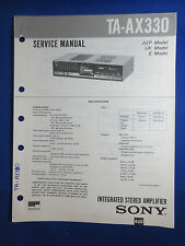 SONY TA-AX330 INTEGRATED AMPLIFIER SERVICE  MANUAL FACTORY ORIGINAL GOOD COND