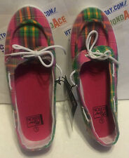 NEW EDITION Ladies Plaid Boat Shoes Size LARGE 9-10 SKU# 947761 BRAND NEW!
