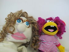 """GIRL HAND PUPPET WITH WIG & 17"""" EDEN WIMZIE PLUSH DOLL PLAYTIME PAL"""