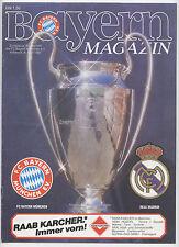Orig.PRG  European Cup 86/87   BAYERN MÜNCHEN - REAL MADRID 1/2 Final  !!  RARE
