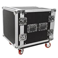 Seismic Audio 10 SPACE RACK CASE Amp Effect Mixer PA/DJ~Wheel/Casters
