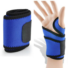 sport Wrist Guard Band Brace Support Carpal Tunnel RSI Pain Wraps Bandage blue