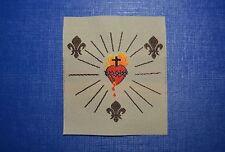 écusson insigne tissu religieux Sacré Cœur de Jésus royauté royaliste royalisme