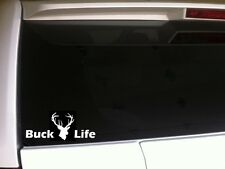 "Buck Life Car Decal Vinyl Sticker G9 6"" Deer Doe Hunting Hunter Guns Tree Stand"