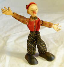 Splendide ancien celluloïd clown figure c1930s-50s