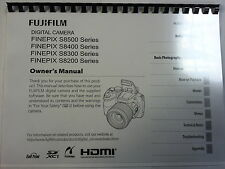 FUJIFILM S8200/S8300/S8400/S8500 PRINTED INSTRUCTION MANUAL GUIDE 143 PAGES A5