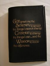 Alcoholics Anonymous AA HARD Back Big Book Serenity BLACK Vinyl Book COVER