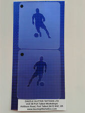 2 x footballer face paint stencils  reusable many times soccer football player