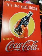Great Collectible COCA COLA Tin Sign IT'S THE REAL THING