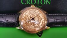 Croton 1904 $20 Gold Coin Replica Stainless Steal Watch NIB