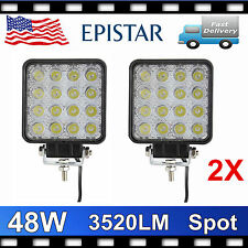 2pcs LED 48W 12V 24V Work Light Spot Light Off Road ATV SUV Car Boat Jeep Truck