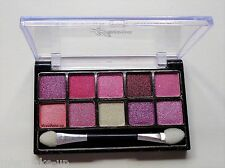 La Femme 10 Colour Shimmer Eye Shadow Pink Shades