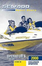 Sea-Doo Owners Manual Book 2000 SPORTSTER & CHALLENGER
