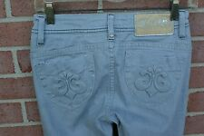 Women's DEREON Stretch Gray Denim Skinny Sparkly Jeans Pants Size 1/2