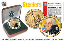 PITTSBURGH STEELERS NFL USA Mint PRESIDENTIAL Dollar Coin VELVET BOX AND COA*NEW