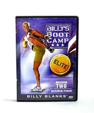 DVD VIDEO Exercise Routines BILLY'S BOOT CAMP MISSION TWO MAXIMUM POWER