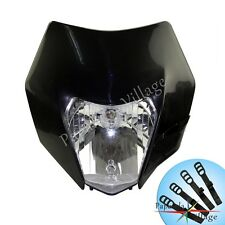 Universal Streetfighter Dirt Bike Black Racing Headlight Head Lamp Fairing New