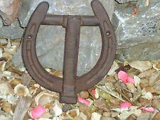 Large Horse Shoe Heavy Cast Iron Door Knocker -  Farm Oak house Vintage Front