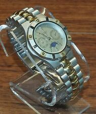 Armitron (20/2173) Two Tone W. German Movt Water Resistant Sundial Wrist Watch!