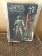 "Star Wars Black Series 6"" Boba Fett AFA U 8.5 Uncirculated RARE MISB NEW"