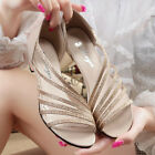 WS AU Ladies Womens Shoes Roman Low Heel Summer Sexy Sandals Fashion New Leisure