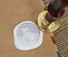 White rabbit Wax Seal Stamp Sealing bunny Stamp wedding invitation gift WS090