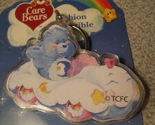 BEDTIME BEAR Care Bear in CLOUD CAR 2003 Plastic Keychain New