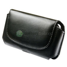 Genuine Leather Pouch Belt Clip Phone Case for LG Optimus F/L90/Zone 3/4x HD
