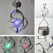 Solar Color Changing Wind Light LED Outdoor Hanging Garden Courtyard Xmas Decor