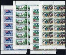 COOK ISLANDS MNH 1965 SG175-78 Self Government Plate 1a Blocks of 12 Set