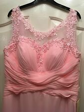 Stunning Pink Lace, Vintage Bridesmaid Or Prom Dress. U.K. 16. BNWT
