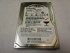 "Toshiba 160GB 7200RPM 2.5"" SATA Laptop Hard Drive MK1656GSY 572866-001"