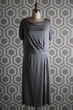 NWT Tory Burch Edna Dot Shadow Dress Large L Silk Knit Dress $395 Lavender Mist