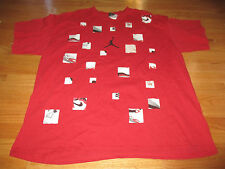 "MICHAEL JORDAN ""How do you count to 21?"" CHICAGO BULLS (2XL) T-Shirt RED"