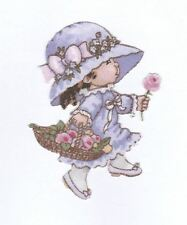 Patch Thermocollant en tissu Petite fille chapeau Fleurs Girl & Flowers