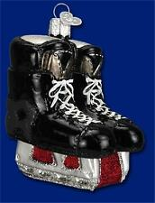 HOCKEY SKATES OLD WORLD CHRISTMAS ICE HOCKEY SKATE BLOWN GLASS ORNAMENT 44046