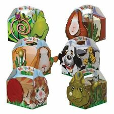 12 Pet Animals ~ Birthday Party Boxes ~ Snack Meal Box ~ Dog Cat Rabbit Lizard