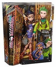"Monster High Boo York Cleo De Nile & Deuce Gorgon 10.5"" Muñeca 2-Pack Marca Nueva"