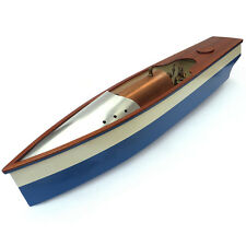 A BEAUTIFUL VINTAGE LIVE STEAM LAUNCH R/C MODEL BOAT POND YACHT
