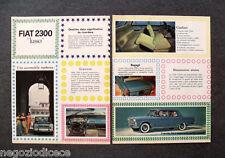 O420 - Advertising Pubblicità -1963- FIAT 2300 LUSSO.