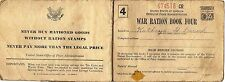 WWII US Office Of Price Administration War Ration Book Four 674518