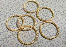 Linking Rings Circle Shiny Gold Affirmation Rings Connector Rings 25mm 10